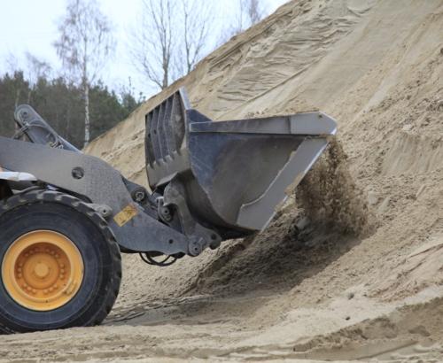 Sand från sandtäkt