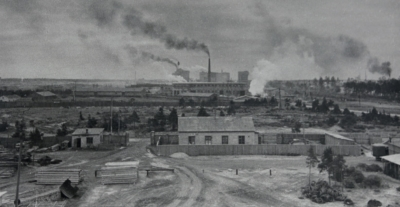 View of the factory in the 1950s.