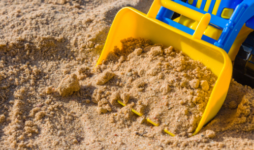 Best sand for playing is pure and soft